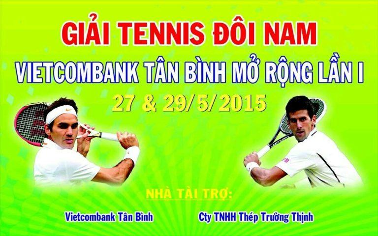 """Giải Tennis Đôi Nam """"Vietcombank Tân Bình mở rộng Lần thứ I"""